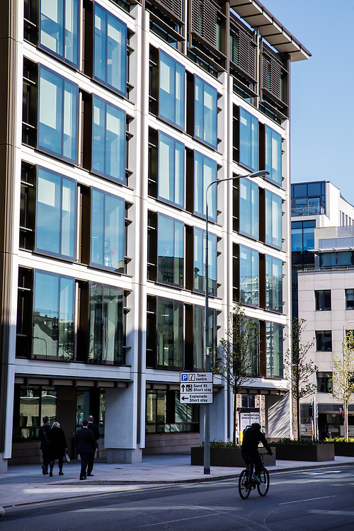 Corporate offices in the centre of the business district of St Helier, Jersey, Channel Islands