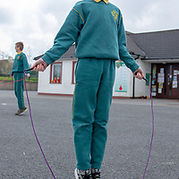 Cathal OHeineach from Gaelscoil Mhíchíl Cíosóg Ennis with their Jessies Project Skipping ropes