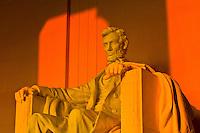 Statue of Abraham Lincoln, Lincoln Memorial, Washington, District of Columbia, USA