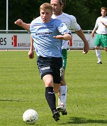 FODBOLD: Jonas Rohrberg (Helsingør) under kampen i Kvalifikationsrækken, pulje 1, mellem Elite 3000 Helsingør og Virum-Sorgenfri Boldklub den 25. maj 2006 på Helsingør Stadion. Foto: Claus Birch