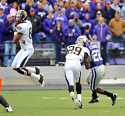 Nov 14, 2009; Manhattan, KS, USA;  Missouri wide receiver Danario Alexander (81) makes the catch in the first half against the Kansas State at Bill Snyder Family Stadium. Mandatory Credit: Denny Medley-US PRESSWIRE