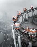 Aerial view of Guangzhou tower, Guangzhou city, China.