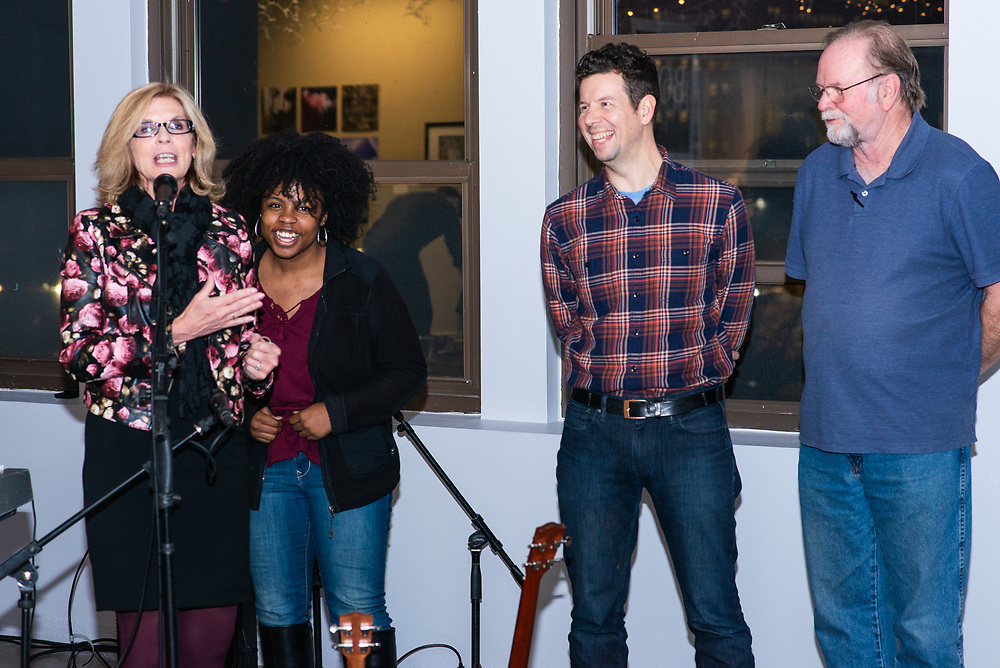 Winners in visual art, film, literary art and music performed on Dec. 20 at Summit Artspace