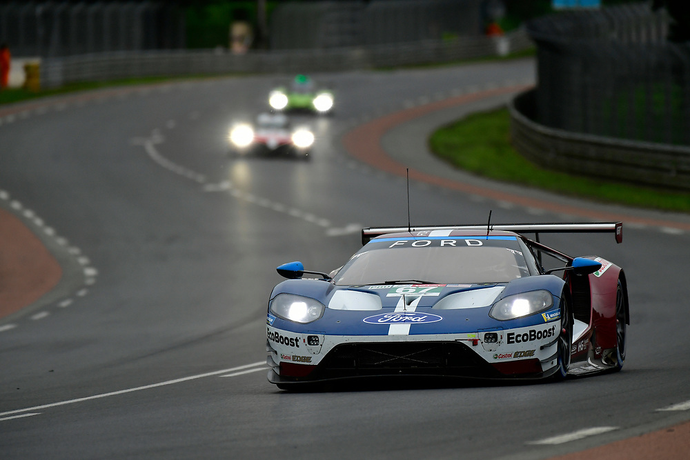 #67 Ford Chip Ganassi Racing Ford GT: Andy Priaulx, Harry Tincknell, Tony Kanaan<br /> Thursday 14 June 2018<br /> 24 Hours of Le Mans<br /> 2018 24 Hours of Le Mans<br /> Circuit de la Sarthe  FR<br /> World Copyright: Scott R LePage