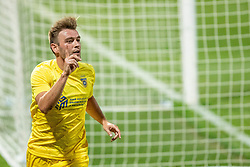 Slobodan Vuk  of NK Domzale celebrates after scoring a goal during 2nd Leg Football match between NK Domzale and FC Balzan  in First Qualifying match of UEFA Europa League 2019/2020, on July 18, 2019 in Sports park Domzale, Domzale, Slovenia. Photo by Ziga Zupan / Sportida