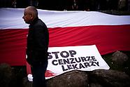 Białystok. Marsz przeciwników pandemii koronawirusa