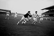 All Ireland Senior Football Final, 22nd September, 1963.Dublin V Galway.Dublin Forward M. Whelan about to kick towards Galway Goal ..22.09.1963  22nd September 1963