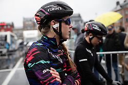 Hannah Barnes (GBR) of CANYON//SRAM Racing at the start of the Liege-Bastogne-Liege Femmes - a 138.5 km road race, between Bastogne and Liege on April 28, 2019, in Wallonie, Belgium. (Photo by Balint Hamvas/Velofocus.com)
