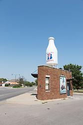 Enlarged Milk Carton on Route 66 in Oklahoma City, OK