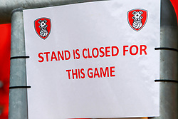 Stand closures due to Covid-19 inside Aesseal New York Stadium, home to Rotherham United - Mandatory by-line: Ryan Crockett/JMP - 07/11/2020 - FOOTBALL - Aesseal New York Stadium - Rotherham, England - Rotherham United v Preston North End - Sky Bet Championship