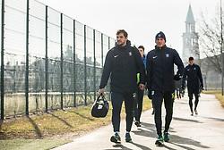 Mario Jurcevic and Marko Putincanin during 1st Practice session of NK Olimpija Ljubljana after Winter break before Spring season of Prva liga 2018/19, on January 10, 2018 in ZAK, Ljubljana, Slovenia. Photo by Vid Ponikvar / Sportida