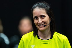 Referee Charlotte Bonaventura during the Women's EHF Euro 2020 match between Netherlands and Hungry at Sydbank Arena on december 08, 2020 in Kolding, Denmark (Photo by RHF Agency/Ronald Hoogendoorn)