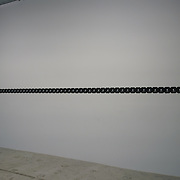 Ceal Floyer,Taking a Line for a Walk, 2008 art work at Everything at once showcases at  The Studios, 180 The Strand on 8th Dec 2017, London, UK.