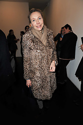 MICHAELA DE PURY at a private view of 'Engagement' an exhibition of new works by Jennifer Rubell held at the Stephen Friedman Gallery, 25-28 Old Burlington Street, London on 7th February 2011.