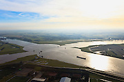Nederland, Utrecht,Wijk bij Duurstede 10-01-2011; .Wijk bij Duurstede, zwaaikommen Lek Amsterdam- Rijnkanaal..Winding Places in the river Lek / Amsterdam Rijn-canal...luchtfoto (toeslag), aerial photo (additional fee required).foto/photo Siebe Swart