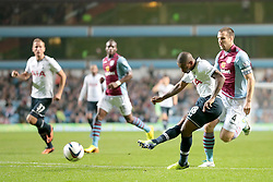 Tottenham Hotspurs' Jermain Defoe's shot is saved  - Photo mandatory by-line: Nigel Pitts-Drake/JMP - Tel: Mobile: 07966 386802 24/09/2013 - SPORT - FOOTBALL -  Villa Park - Birmingham - Aston Villa v Tottenham Hotspur - Round 3 - Capital One Cup
