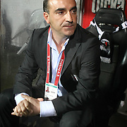 Besiktas's coach Carlos CARVALHAL during their Turkish superleague soccer match Besiktas between MP Antalyaspor at BJK Inonu Stadium in Istanbul Turkey on Sunday, 25 September 2011. Photo by TURKPIX