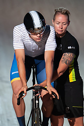 February 8, 2019 - Melbourne, VIC, U.S. - MELBOURNE, VIC - FEBRUARY 08: James Brister of Australia looks on prior to his sprint at The Six Day Cycling Series on February 08, 2019 at Melbourne Arena, VIC. (Photo by Speed Media/Icon Sportswire) (Credit Image: © Speed Media/Icon SMI via ZUMA Press)