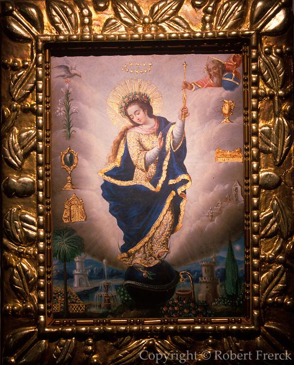 ECUADOR, QUITO SCHOOL OF PAINTING 18thc, 'Virgen Imaculada' by Manuel de Samaniego, collection of Banco Central de Ecuador