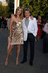 ROD STEWART and his wife PENNY LANCASTER at the annual Serpentine Gallery Summer Party in association with Swarovski held at the gallery, Kensington Gardens, London on 11th July 2007.<br /><br />NON EXCLUSIVE - WORLD RIGHTS