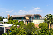 Marion Knott Studios and the Lastinger Tennis Center on Campus of Chapman University