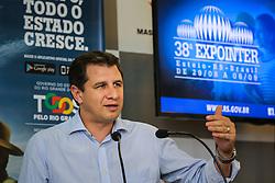 Coletiva de imprensa do secretário da agricultura, Ernani Polo durante 38ª Expointer, que ocorrerá entre 29 de agosto e 06 de setembro de 2015 no Parque de Exposições Assis Brasil, em Esteio. FOTO: Pedro H. Tesch/ Agência Preview