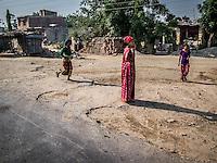Women in a village on the way to Nepalgunj, Nepal.