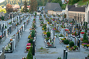 Cemetery at the Catholic Church, Landeck, Tirol, Austria