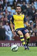 Santi Cazorla of Arsenal in action. Barclays Premier league match, Aston Villa v Arsenal at Villa Park in Birmingham on Saturday 20th Sept 2014<br /> pic by Mark Hawkins, Andrew Orchard sports photography.