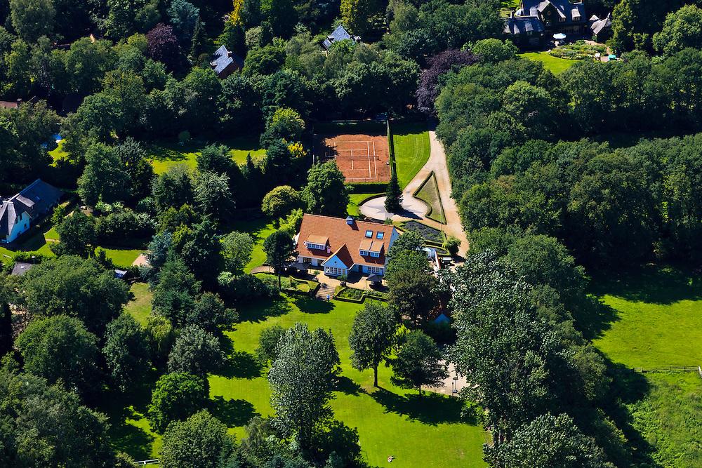 Nederland, Noord-Holland, Laren (of Blaricum), 30-06-2011; villa Marco Borsato.The home of Dutch singer Marco Borsato..luchtfoto (toeslag), aerial photo (additional fee required).copyright foto/photo Siebe Swart