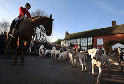 The East Kent hunt gathers for it's  traditional Boxing Day hunt at Elham, Kent, Wednesday, 26th December 2012  Photo by: Stephen Lock / i-Images