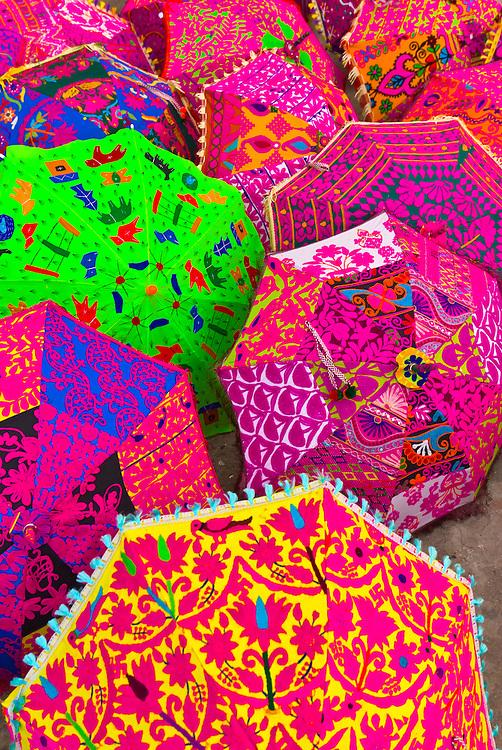 Umbrellas outside a shop, Jaipur, Rajasthan, India