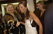 Amanda Wakeley and Heather Kerzner. Charles Finch and Dr. Franco Beretta host launch of Beretta stor at 36 St. James St. London. 10  January 2006. ONE TIME USE ONLY - DO NOT ARCHIVE  © Copyright Photograph by Dafydd Jones 66 Stockwell Park Rd. London SW9 0DA Tel 020 7733 0108 www.dafjones.com