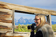 Photographer, Shane Cabin, Grand Teton National Park, Jackson Hole, Wyoming