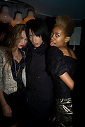Suki Alice; Nat Weller; Talula Adeyemi; , Celebrate the second guest editors issue. Pre-launch of  Paramount at Centrepoint.London 16 September 2008. *** Local Caption *** -DO NOT ARCHIVE-© Copyright Photograph by Dafydd Jones. 248 Clapham Rd. London SW9 0PZ. Tel 0207 820 0771. www.dafjones.com.