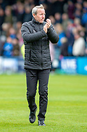 Charlton Athletic manager Lee Bowyer applauds the fans after  the EFL Sky Bet League 1 match between Gillingham and Charlton Athletic at the MEMS Priestfield Stadium, Gillingham, England on 27 April 2019.