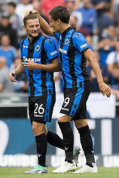July 29, 2018 - Brugge, BELGIUM - Club's Mats Rits and Club's Jelle Vossen celebrate after scoring during the Jupiler Pro League match between Club Brugge and KAS Eupen, in Brugge, Sunday 29 July 2018, on the first day of the Jupiler Pro League, the Belgian soccer championship season 2018-2019. BELGA PHOTO JASPER JACOBS (Credit Image: © Jasper Jacobs/Belga via ZUMA Press)