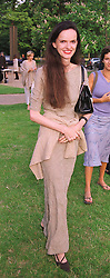Social figure MISS BETTINA VON HASE, at a party in London on 7th July 1999.MUC 78