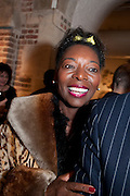 FLOELLA BENJAMIN, The launch party of HiBrow and A Mighty Big If. ÊThe Crypt. St. Martins in the Fields. London. 24 January 2012<br /> FLOELLA BENJAMIN, The launch party of HiBrow and A Mighty Big If.  The Crypt. St. Martins in the Fields. London. 24 January 2012