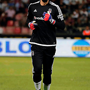 Besiktas's goalkeeper Tolga Zengin during their Turkish Spor Toto superleague soccer match Gaziantepspor between Besiktas at the Kamil Ocak stadium in Gaziantep Turkey on Friday 28 August 2015. Photo by Aykut AKICI/TURKPIX