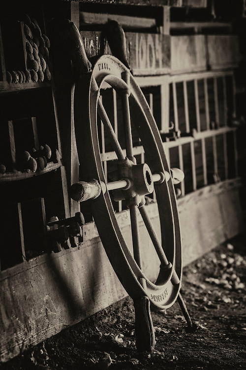 Boat Wheel at St Michaels boat house