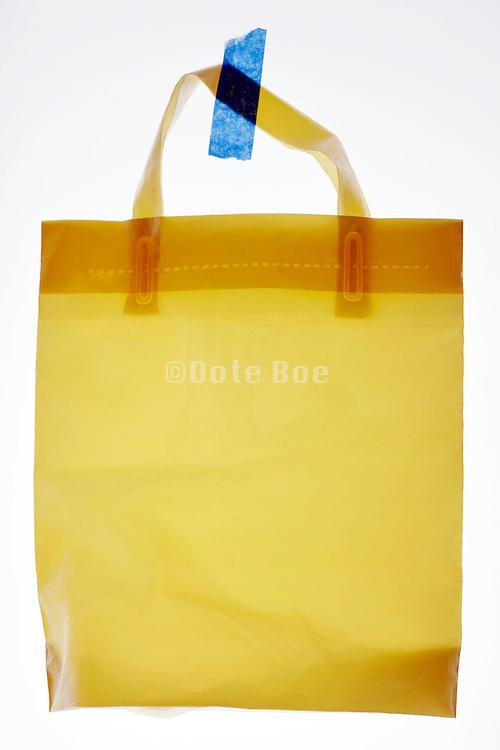 sturdy plastic shopping bag