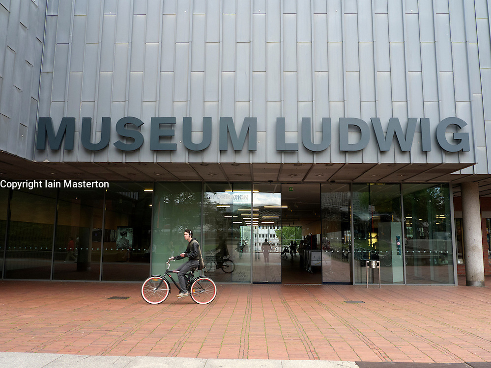 Exterior view of Museum Ludwig modern art museum in Cologne Germany