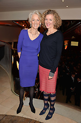 Left to right, JOANNA TROLLOPE and her daughter ANTONIA POTTER-PRENTICE at the Costa Book Awards 2013 held at Quaglino's, 16 Bury Street, London on 28th January 2014.