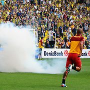 Fenerbahce's and Galatasaray's during their Turkish superleague soccer derby match Fenerbahce between Galatasaray at the Sukru Saracaoglu stadium in Istanbul Turkey on Sunday 12 May 2013. Photo by Aykut AKICI/TURKPIX