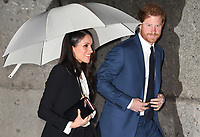 Prince Harry and Meghan Markle attend the annual Endeavour Fund Awards at Goldsmiths Hall, London, UK, on the 1st February 2018.<br /> <br /> Picture by James Whatling