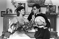 CARRIE FRANCES FISHER (October 21, 1956 - December 27, 2016) the actress best known as Star Wars' Princess Leia Organa, has died after suffering a heart attack. She was 60. Pictured: April 23, 1980 - New York, New York, U.S. - Carrie Fisher at her house in New York (Credit Image: © Lynn Goldsmith via ZUMA Press)