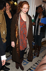 Model LILY COLE at a special Grand Classic screening of Place Vendome to celebrate Catherine Deneuve as MAC Beauty Icon 3 held at The Elecric Cinema, Portobello Road, London W11 on 30th January 2006.<br /><br />NON EXCLUSIVE - WORLD RIGHTS