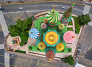 Cities and Landscapes captured from a Birds eye view with stunning results...<br /> <br /> A group of Russian photographers and specialists by the name of AirPano, have teamed up to capture amazing panoramic, bird's-eye views photos. <br /> <br /> AirPano travel the world to shoot some of the world's most beautiful locations from above. The team usually photograph on a helicopter, but they also shoot from an airplane, a dirigible, a hot air balloon and a radio-controlled helicopter. <br /> <br /> The images are then available for the public to view on their website, and using AirPano's special viewer, you can view the photos in 360-degree displays.<br /> <br /> Photo shows: St Basil's Cathedral<br /> ©Exclusivepix Media