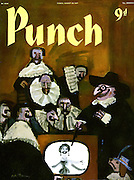 Mr Punch shows a new invention of television to a seventeenth century audience
